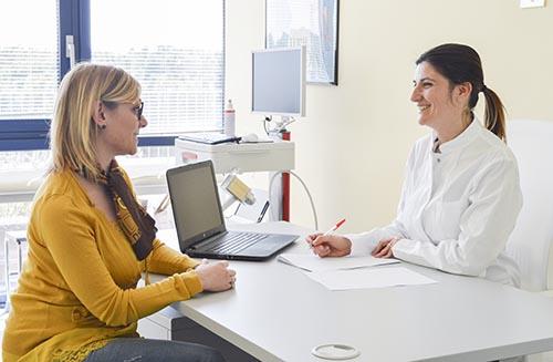 1 dermatologische ärztliche Untersuchung